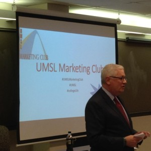 umsl marketing club dean speaking