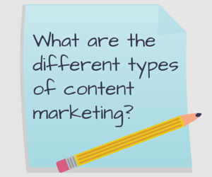 What are the different types of content (2)